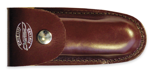 Leather sheath for folding knives